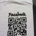 Facebook QR code screen print