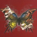 Butterfly screen print